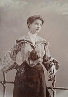 Kabinetfotó, vizitkártya: Hölgy 1903
