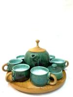 Extra minőségű Kalmár Magdolna kerámia teáskészlet