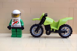 LEGO motoros figura és krossz motor eredeti szép állapotban