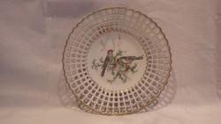 Wallendorf madarás , áttört porcelán tál