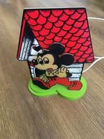 Ritka retro Mickey egér lámpa működik