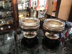 Ezüst talpas asztali fűszertartó párban