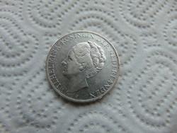 Hollandia 2 1/2 gulden 1933 Nagy ezüst érme 24.83 gramm