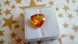 7.60 karátos narancs zafír drágakő tanúsítvánnyal