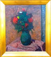 Gábor Móric (1889-1987): csendélet vázában