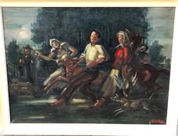 Ritkaság! Ruzicskay György – Vásárra menők című festménye – 130.