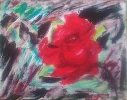 Absztrakt rózsa