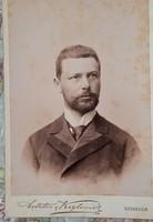 Kabinetfotó, vizitkártya: Úr 1870 körül