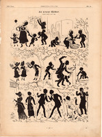 Az arany ifjúkor, nyomat 1881, 22 x 30 cm, Ország - Világ, árny, fény, játék, újság, egy szín