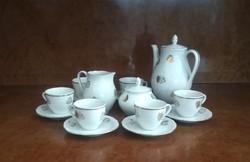 Jelzett, régi, német, COLDITZ porcelán kávés készlet (arany levél mintás) eladó