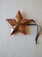 Kézzel festett fa csillag dísz a SCHLOSS SCHÖNBRUNN múzeumból