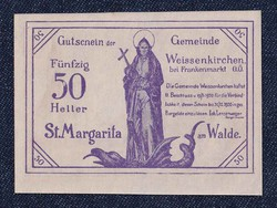 Ausztria Weissenkirchen bei Frankenmarkt 50 heller szükségpénz 1920 (id7457)
