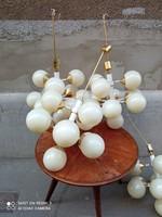 Extra mid century gömbös, szputnyik csillár, üveg vagy műanyag gömbbúrával