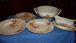 Porcelán étkészlet darabok -  ismert jelzéssel
