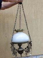 Antik Lüszter lámpa,szecessziós elektromos réz lüszter lámpa  eladó!