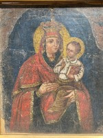 Egyházi -vélhetően- görög eredetű szent kép 18 sz.