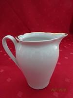 Kahla német porcelán, arany szegélyes tejkiöntő, magassága 10 cm.