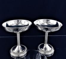Elegáns ezüst pezsgős pohár párban 215 g