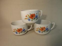 Zsolnay pipacs mintás teás csésze 3 db