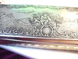 Szép német ezüst színű doboz