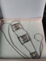 Joid'art modernista ezüst nyakék 47 gramm!