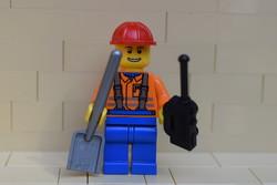 LEGO építő vagy vasúti munkás figura eredeti szép állapotban