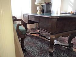 Intarziás Bútorok , Íróasztal, polcos szekrények 1950-es évek