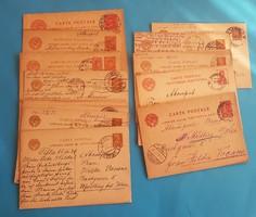 21 db orosz levelezőlap előnyomott bélyegekkel