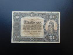 1000 korona 1920 B 17 nagy méretű bankjegy