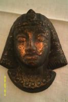 Antik fém maszk,szobor álarc