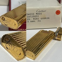 Aranyozott Cartier öngyújtó a 90-es évek elejéről, dobozában!