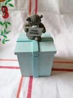 Ajándék mackós Trinket Box Carte Blanche (Születésnapos, saját dobozában)