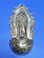 Ezüst Szűz Mária alakos szenteltvíztartó!