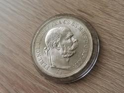 1900 Ferenc József ezüst 5 korona 24 gramm 0,900 Verdefényes!!aUNC!!Ritkaság