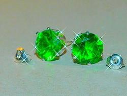 Smaragd Zöld Kristály Fülbevaló
