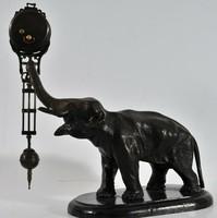 Bronz elefántos kandalló óra, Junghans, 1900 k.