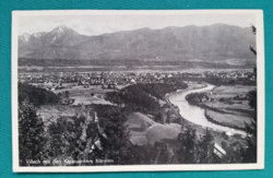 Ausztria,Alpok, Villach tájkép, használt külföldi képeslap