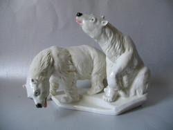 Polar bear sculpture (ens)