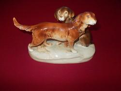 Hibátlan Royal Lux Porcelán két kutyus
