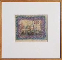 Gross Arnold: small studio house - framed etching