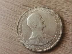 1930 Horthy ezüst 5 pengő,hajas, így ritka 25 gramm 0,640