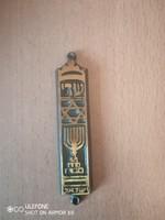 Meseszép réz mezuzah az 1950-es évekből