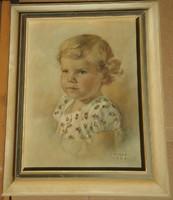 F. Giese 1963 : Gyermek portré