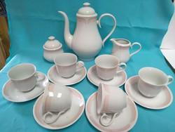 Alföldi rózsaszín porcelán kávés készlet