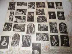 TIZIANO kiállítási képeslapok, levelezőlapok ( 1935 , 27 db.)