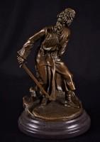 Kozák harcos - bronz szobor műalkotás