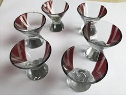 Art deco Karl Palda likőrös poharak a 30-as èvekből