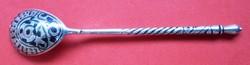 Régi ezüst kis kanál, hossza 11.3 cm, jelzett, 13.8 gr