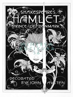 Shakespeare Hamlet dán királyfi dráma illusztráció reprint nyomat J. A. Austen 1922 címlap kard