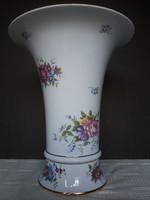 Nagy méretű gyönyörű Hajnalka mintás Hollóházi porcelán váza